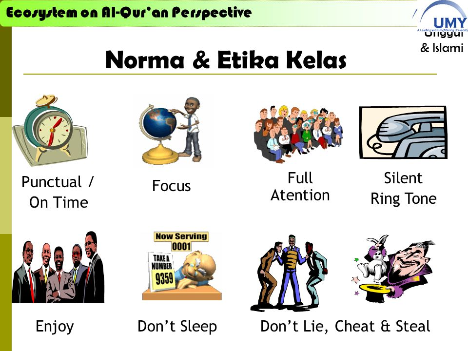 Norma & Etika Kelas Full Atention Silent Ring Tone Punctual / On Time