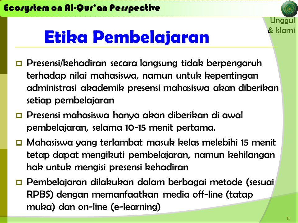 Etika Pembelajaran