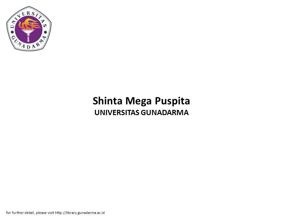 Shinta Mega Puspita UNIVERSITAS GUNADARMA