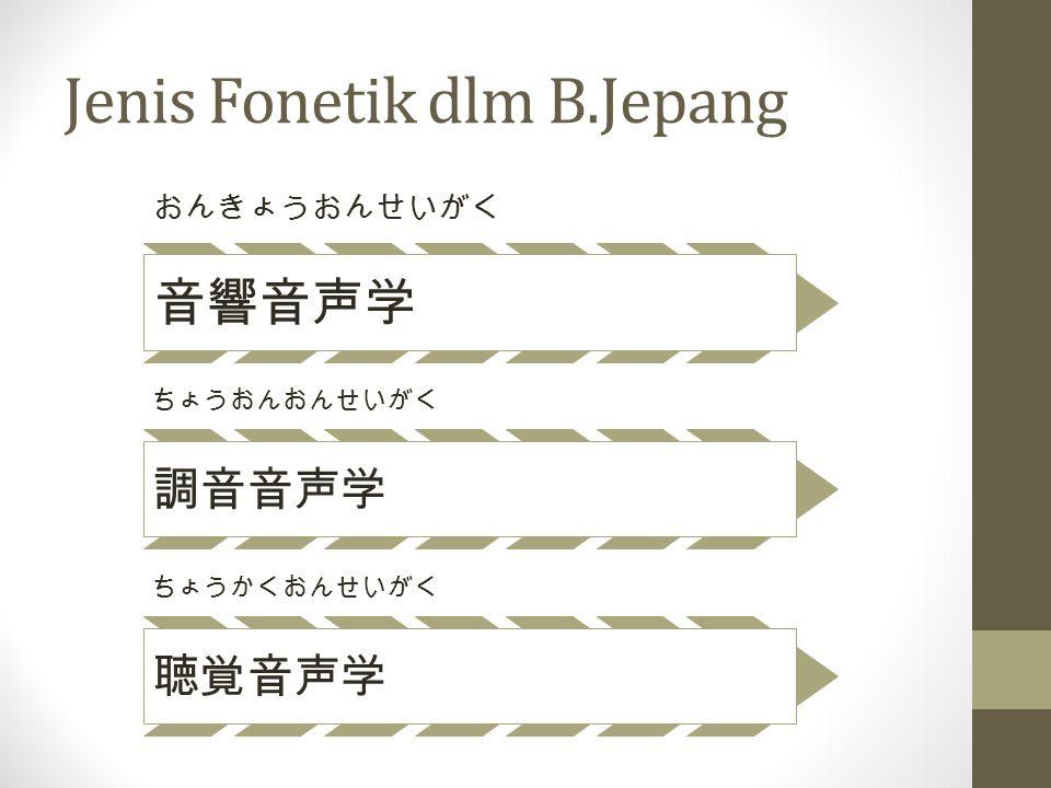 Jenis Fonetik dlm B.Jepang
