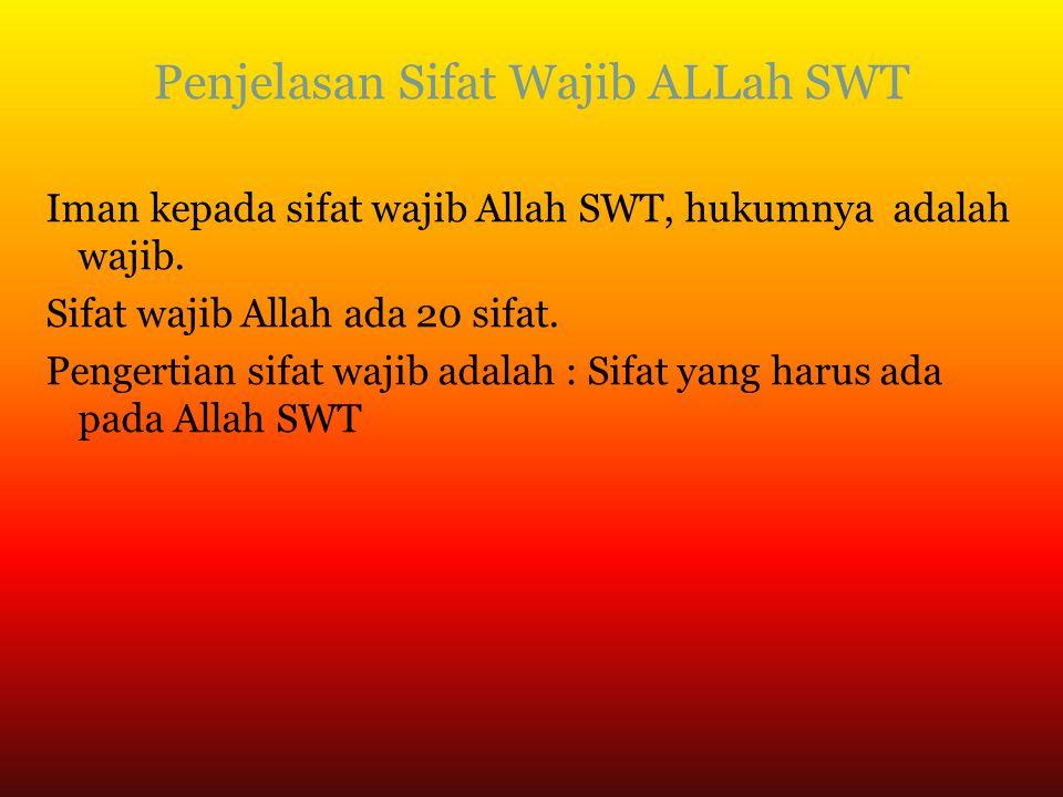 Penjelasan Sifat Wajib ALLah SWT