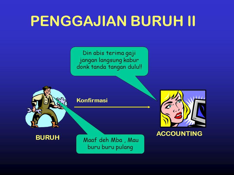 PENGGAJIAN BURUH II ACCOUNTING BURUH