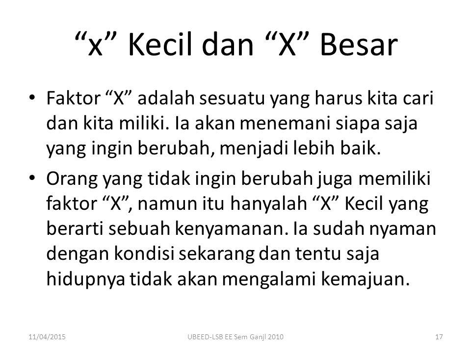 x Kecil dan X Besar
