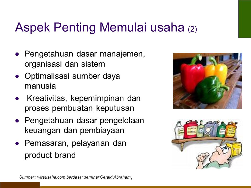 Aspek Penting Memulai usaha (2)
