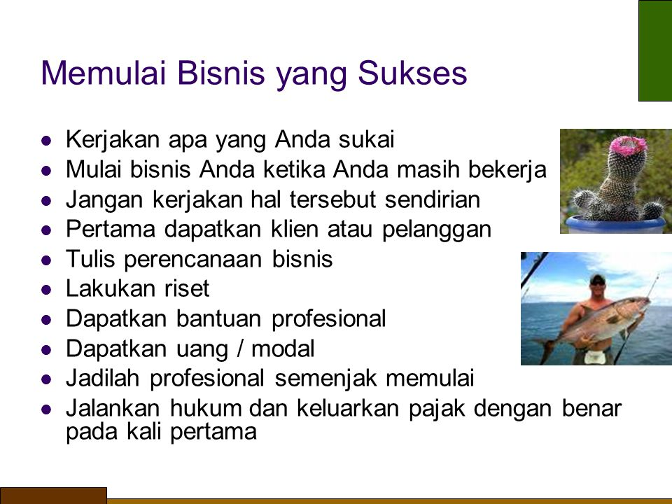 Memulai Bisnis yang Sukses
