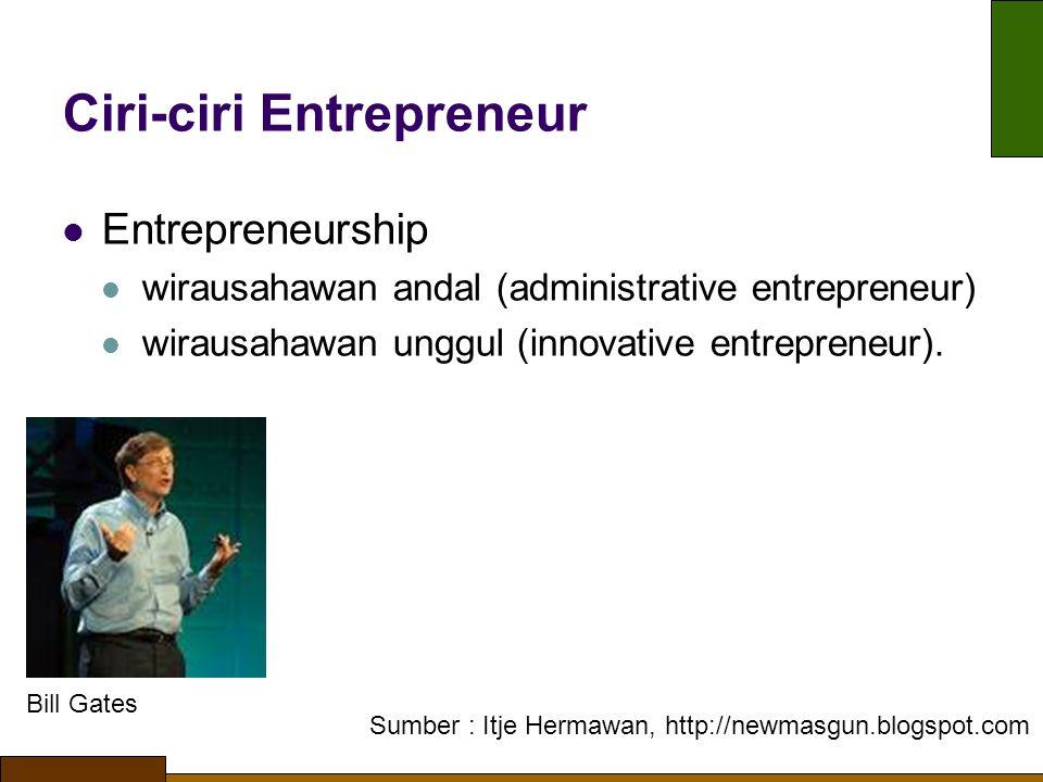 Ciri-ciri Entrepreneur