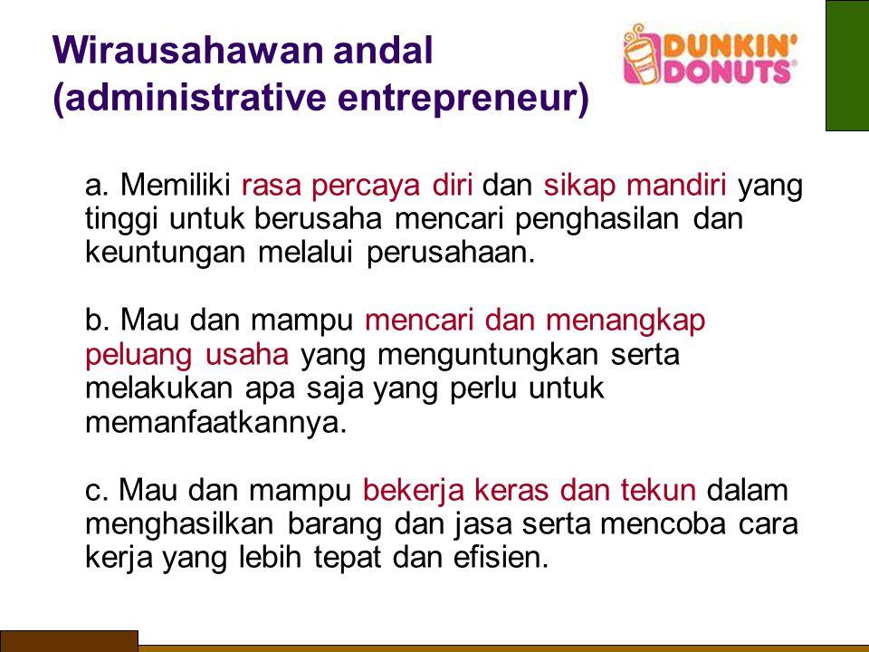 Wirausahawan andal (administrative entrepreneur)