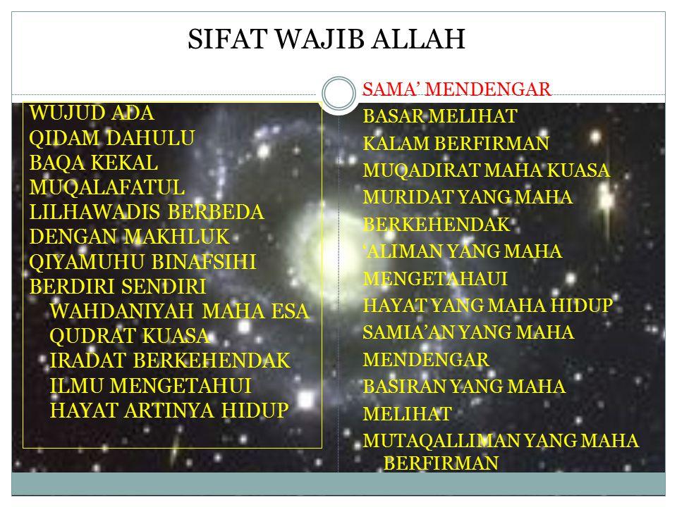 SIFAT WAJIB ALLAH