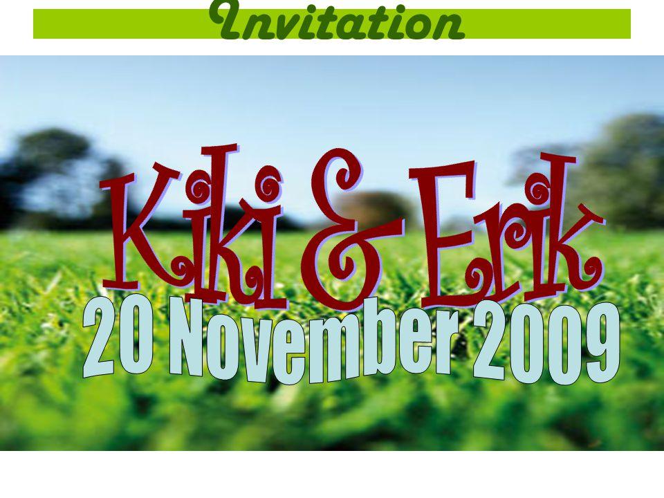 Invitation Kiki & Erik 20 November 2009