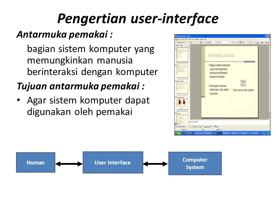 Pengertian user-interface