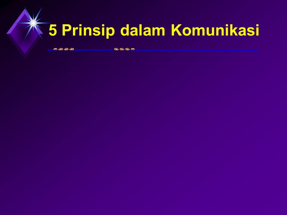 5 Prinsip dalam Komunikasi