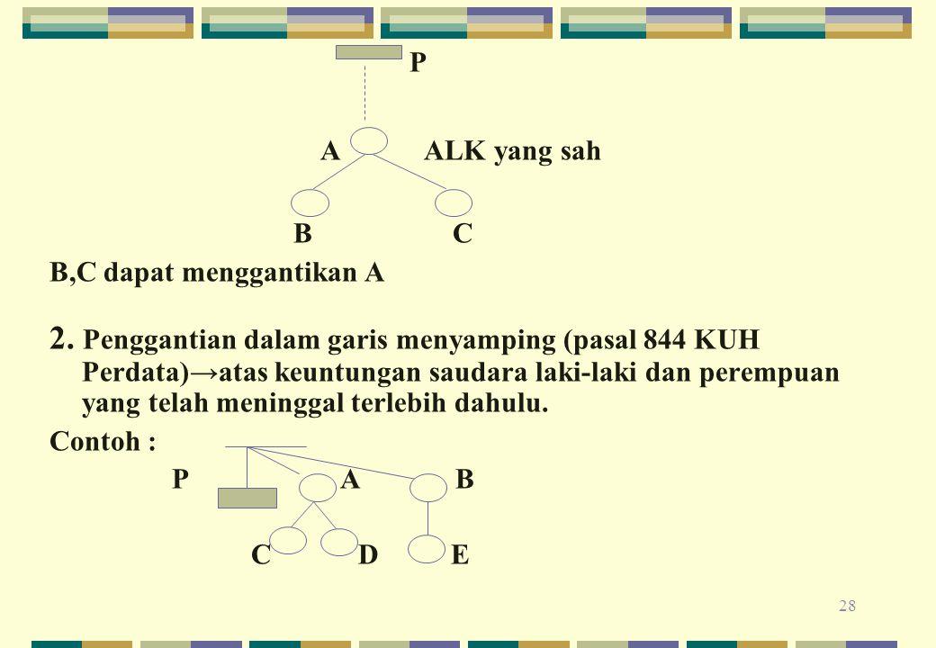 P A ALK yang sah. B C. B,C dapat menggantikan A.