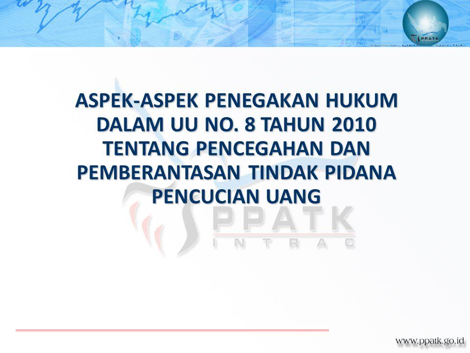 ASPEK-ASPEK PENEGAKAN HUKUM DALAM UU NO. 8 TAHUN 2010