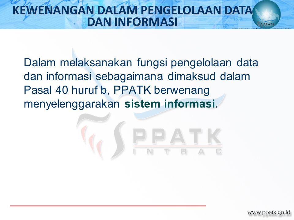 KEWENANGAN DALAM PENGELOLAAN DATA DAN INFORMASI