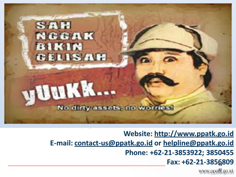 Website: http://www.ppatk.go.id