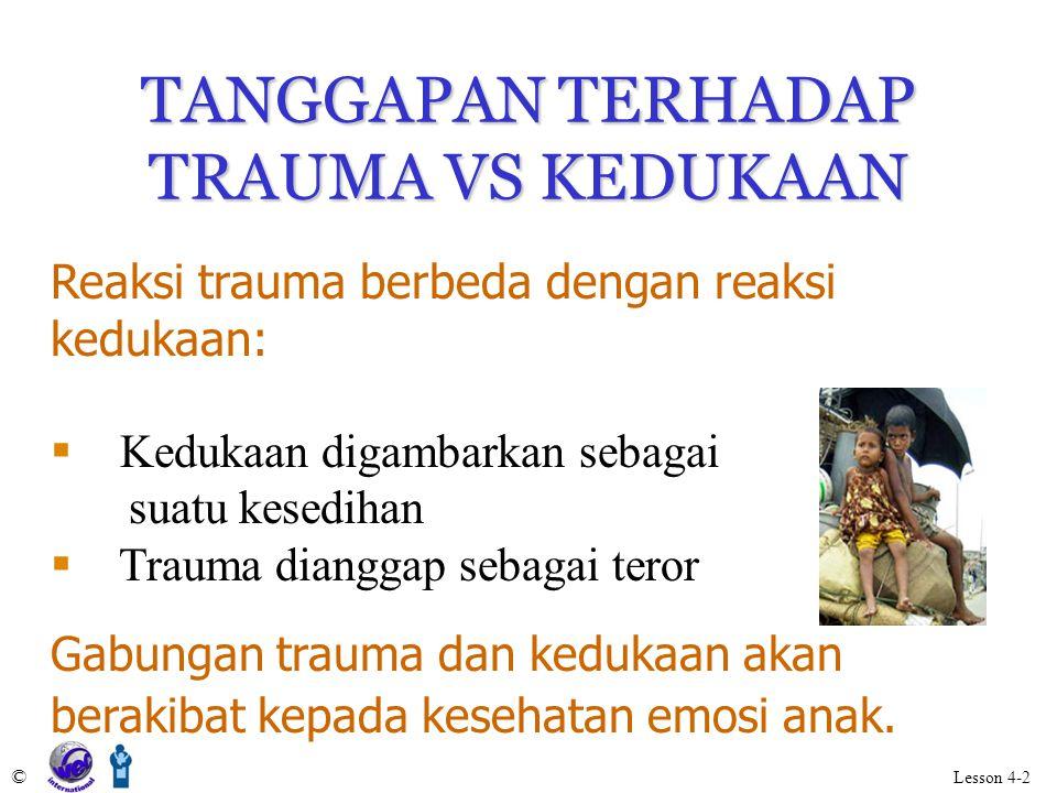 TANGGAPAN TERHADAP TRAUMA VS KEDUKAAN