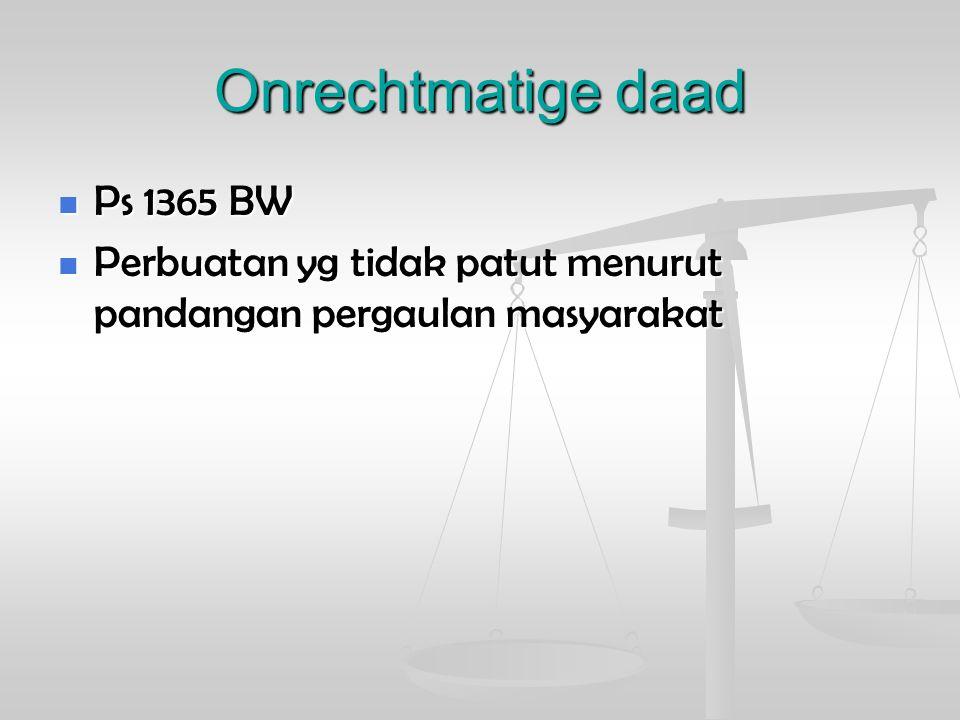Onrechtmatige daad Ps 1365 BW