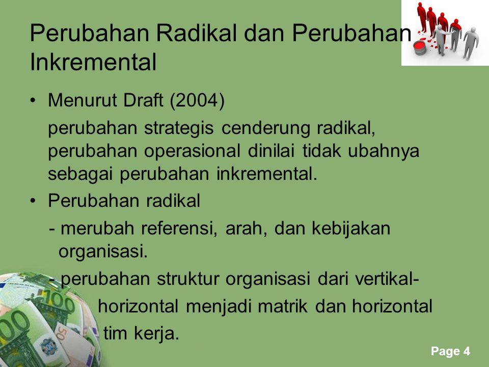 Perubahan Radikal dan Perubahan Inkremental