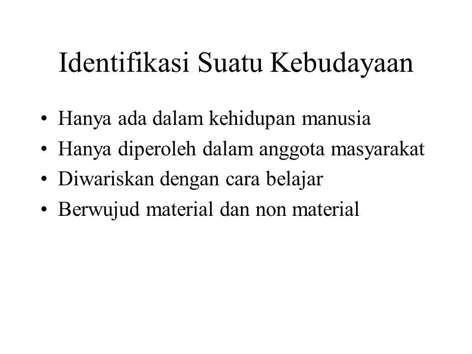 Identifikasi Suatu Kebudayaan