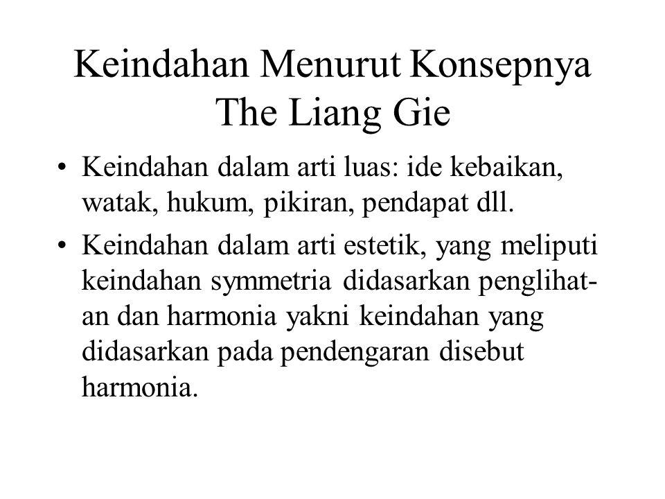 Keindahan Menurut Konsepnya The Liang Gie