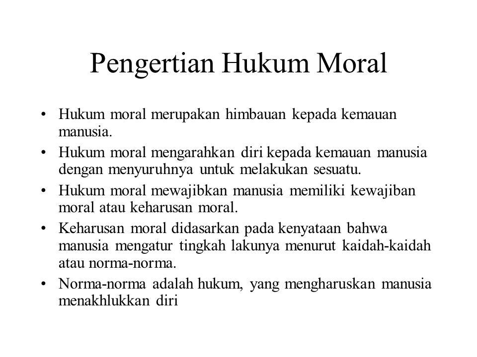 Pengertian Hukum Moral