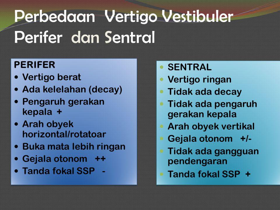 Perbedaan Vertigo Vestibuler Perifer dan Sentral