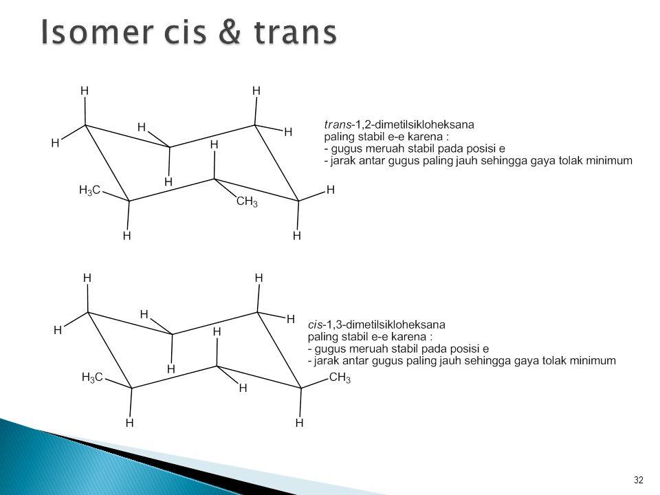 Isomer cis & trans