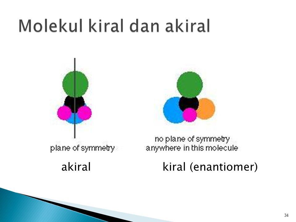 Molekul kiral dan akiral