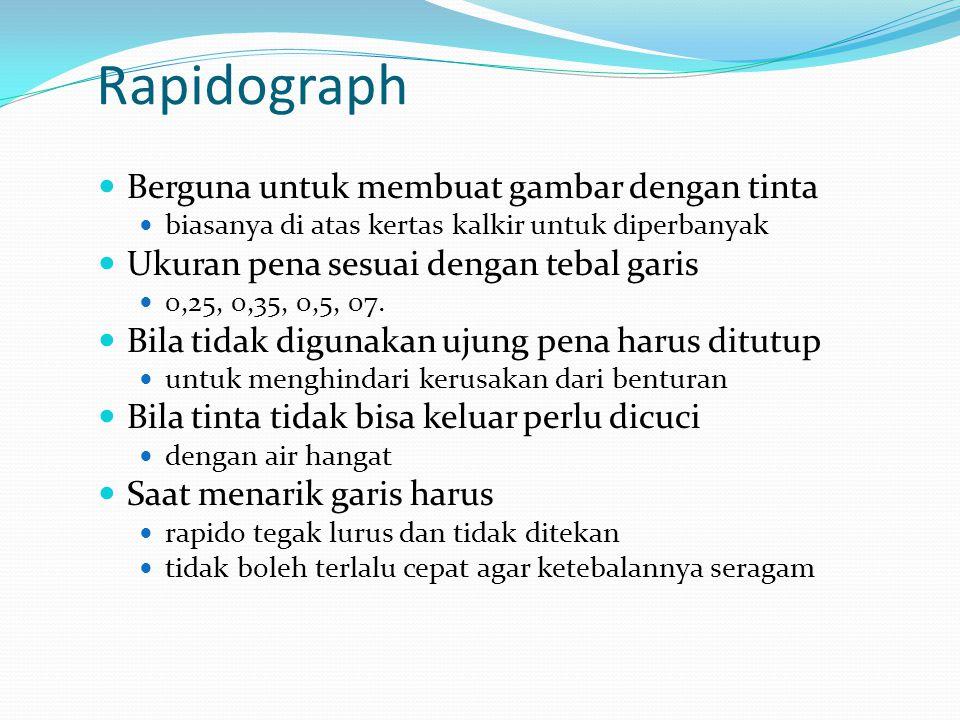 Rapidograph Berguna untuk membuat gambar dengan tinta