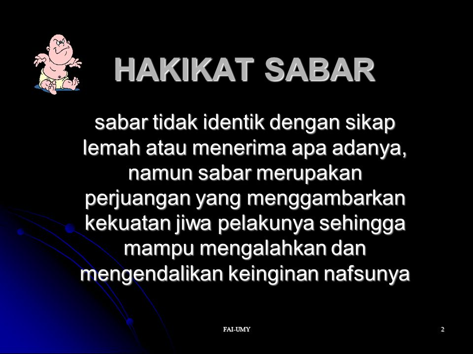 HAKIKAT SABAR
