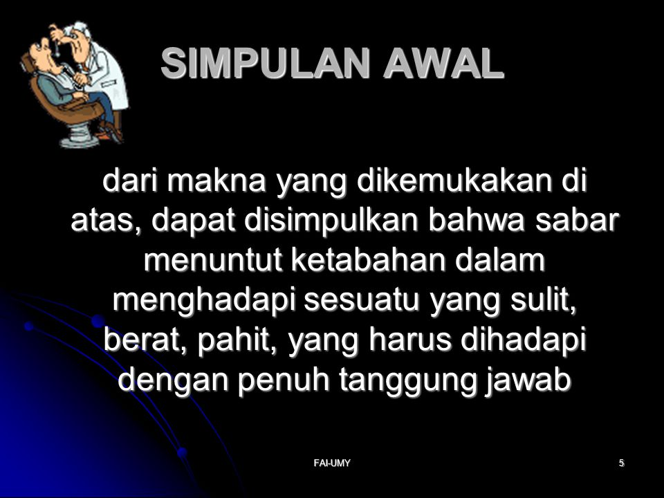 SIMPULAN AWAL