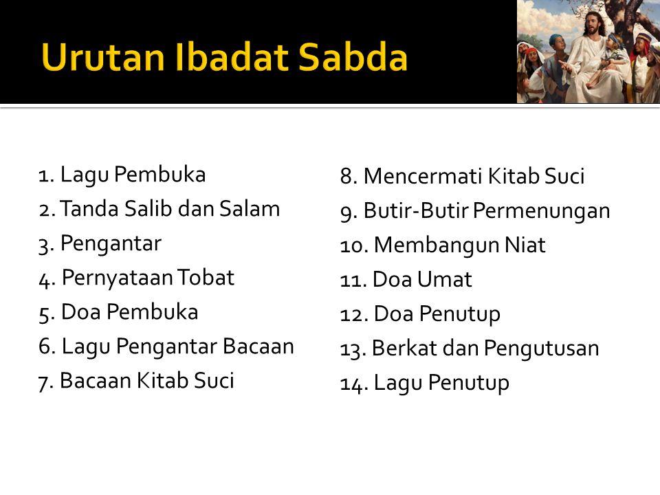 Urutan Ibadat Sabda