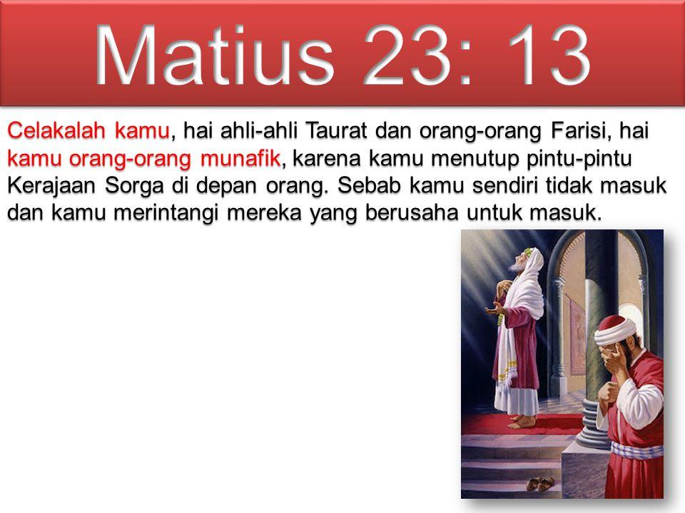 Matius 23: 13