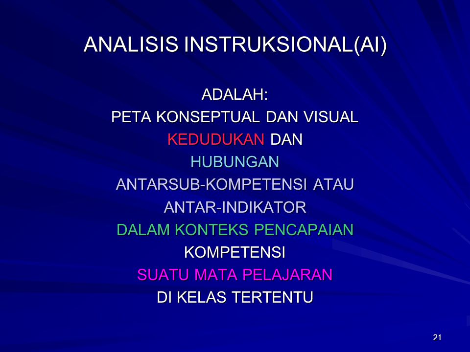 ANALISIS INSTRUKSIONAL(AI)