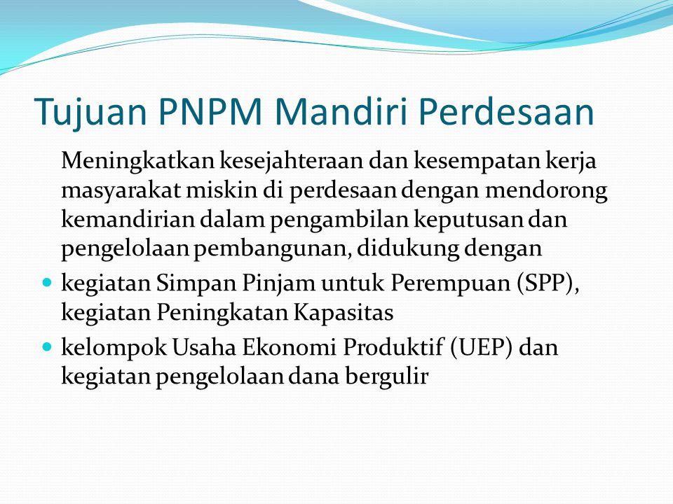 Tujuan PNPM Mandiri Perdesaan