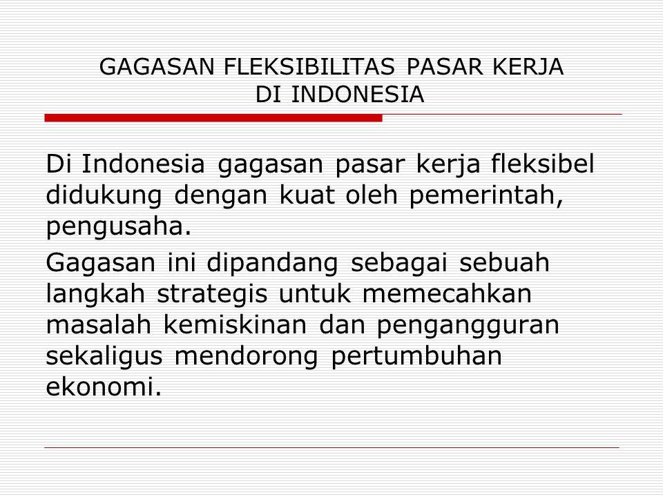 GAGASAN FLEKSIBILITAS PASAR KERJA DI INDONESIA