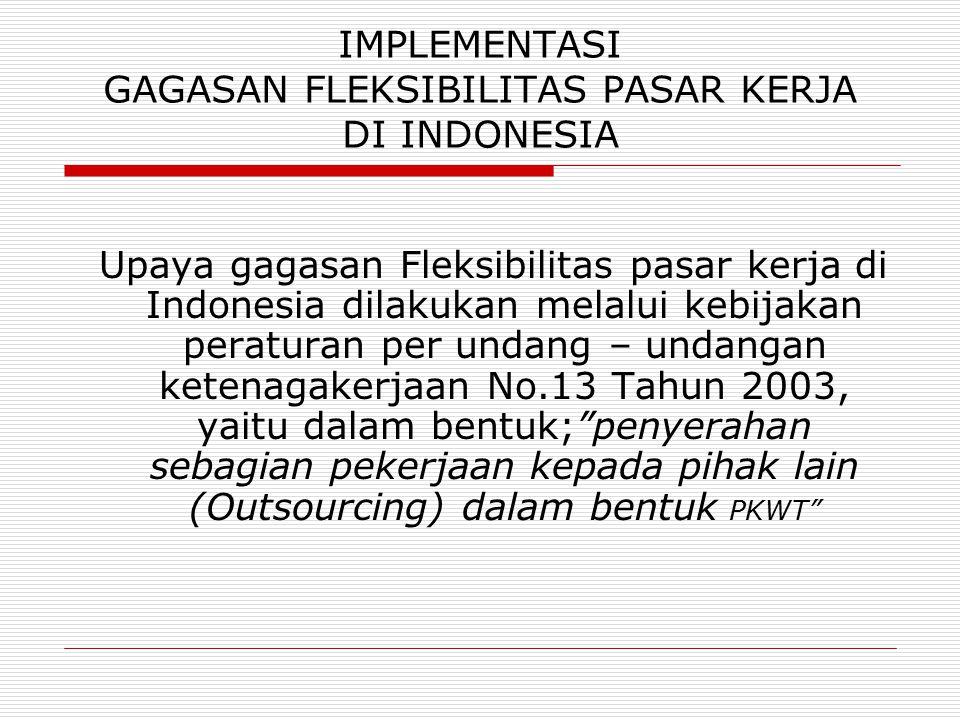 IMPLEMENTASI GAGASAN FLEKSIBILITAS PASAR KERJA DI INDONESIA
