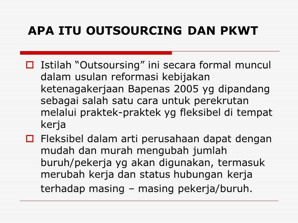 APA ITU OUTSOURCING DAN PKWT