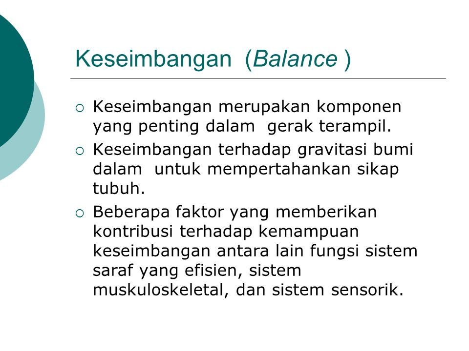 Keseimbangan (Balance )