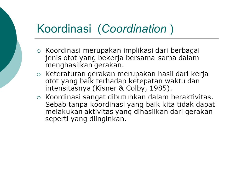 Koordinasi (Coordination )