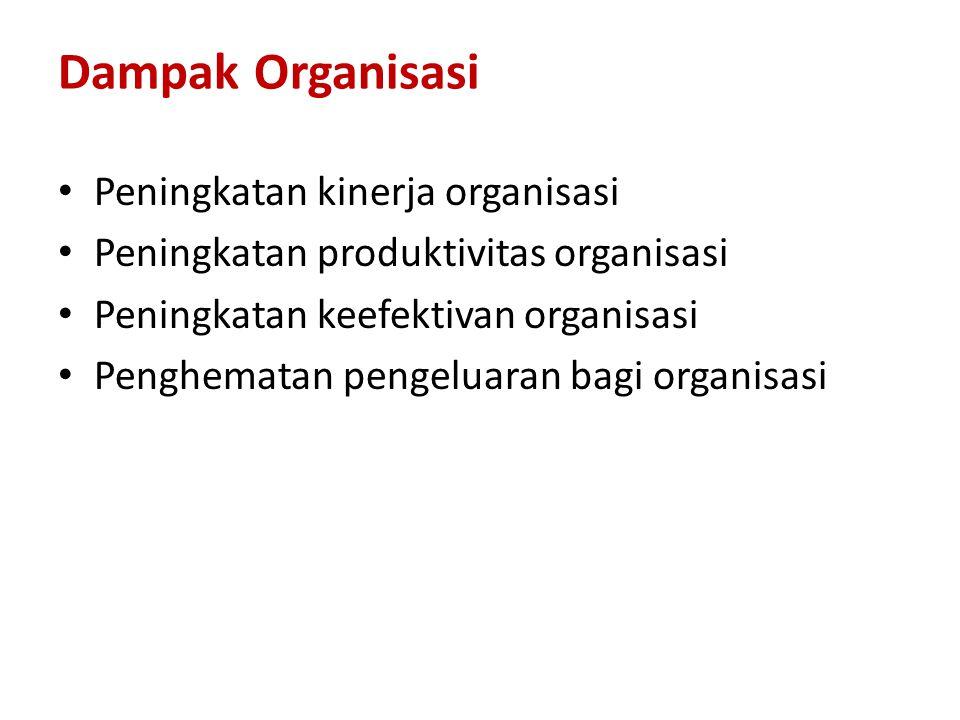 Dampak Organisasi Peningkatan kinerja organisasi