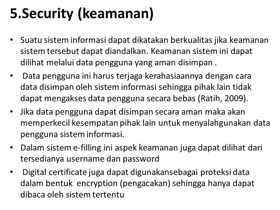 5.Security (keamanan)