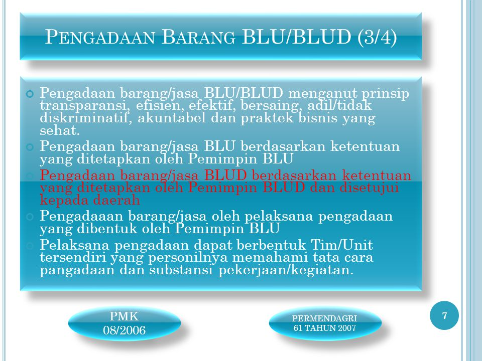 Pengadaan Barang BLU/BLUD (3/4)