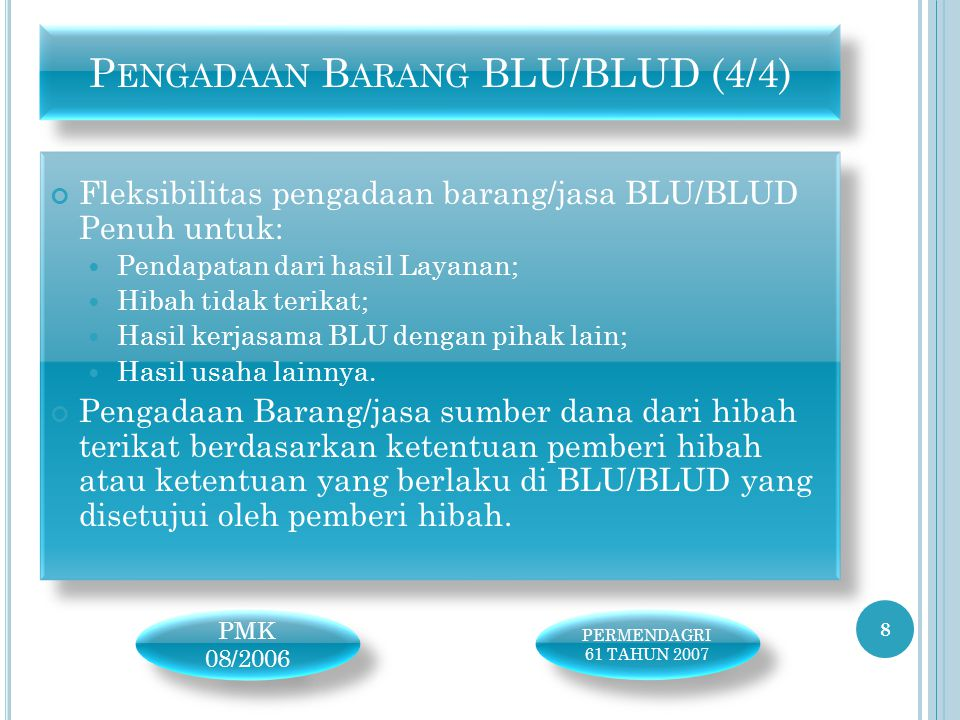 Pengadaan Barang BLU/BLUD (4/4)