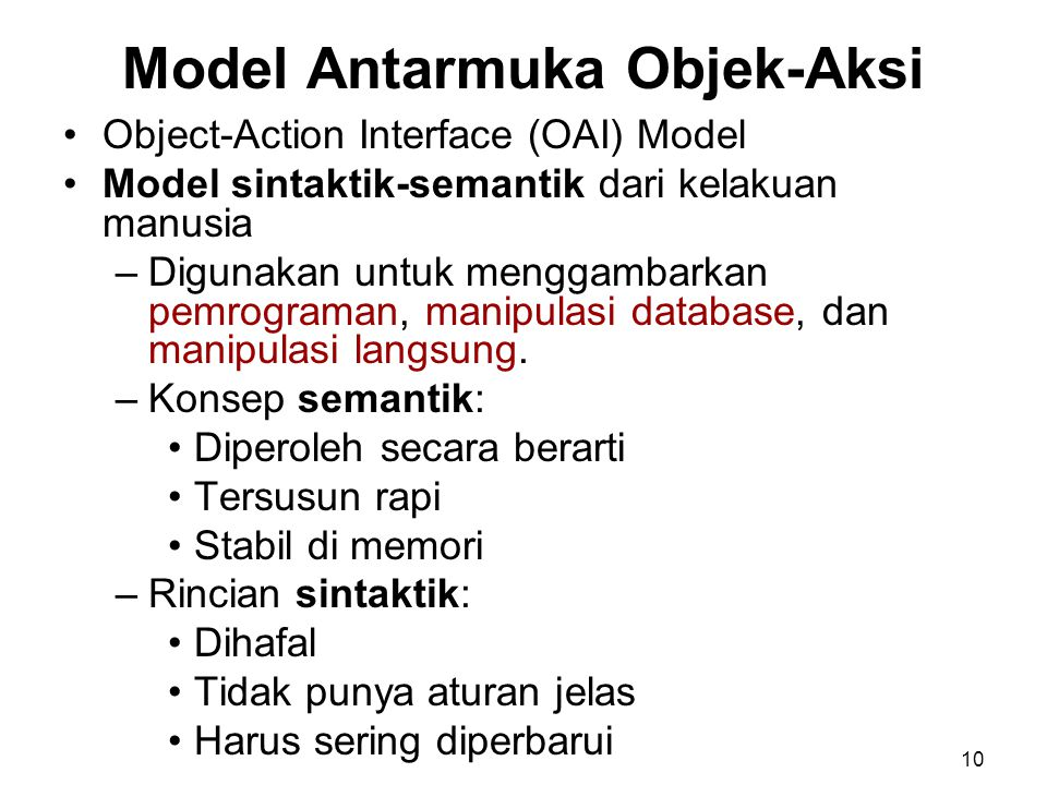 Model Antarmuka Objek-Aksi
