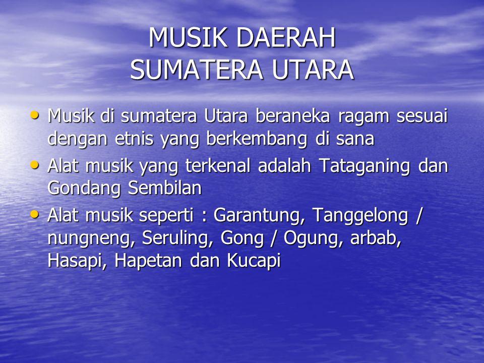 MUSIK DAERAH SUMATERA UTARA
