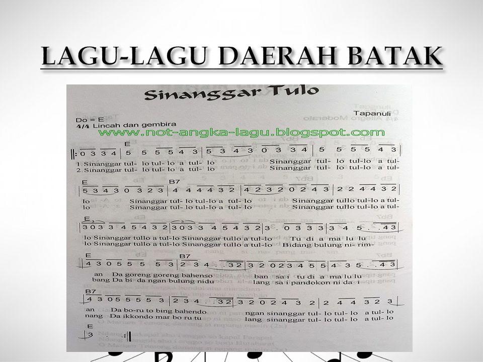 LAGU-LAGU DAERAH BATAK