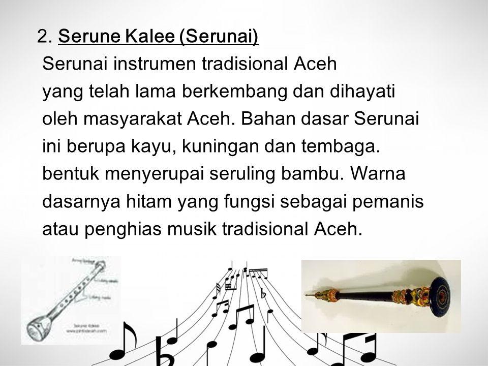 2. Serune Kalee (Serunai)