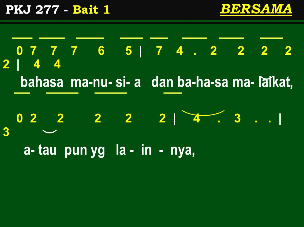 bahasa ma-nu- si- a dan ba-ha-sa ma- laikat,