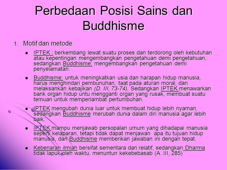Perbedaan Posisi Sains dan Buddhisme